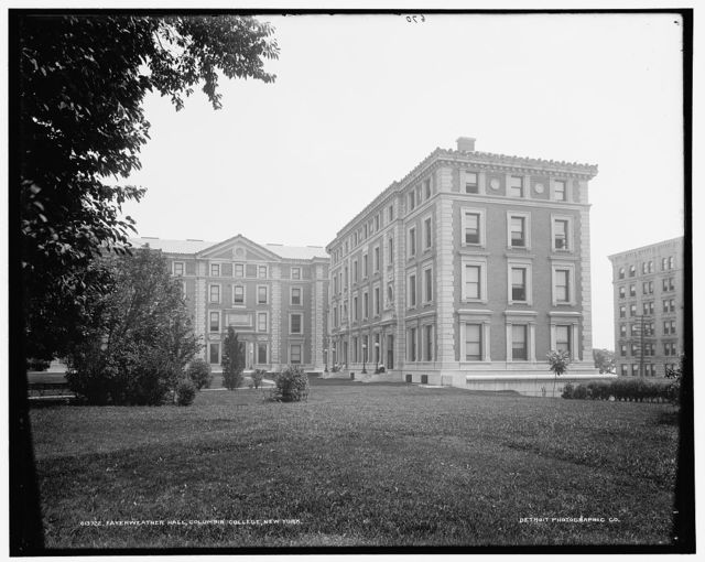 Fayerweather Hall, Columbia College, N.Y.