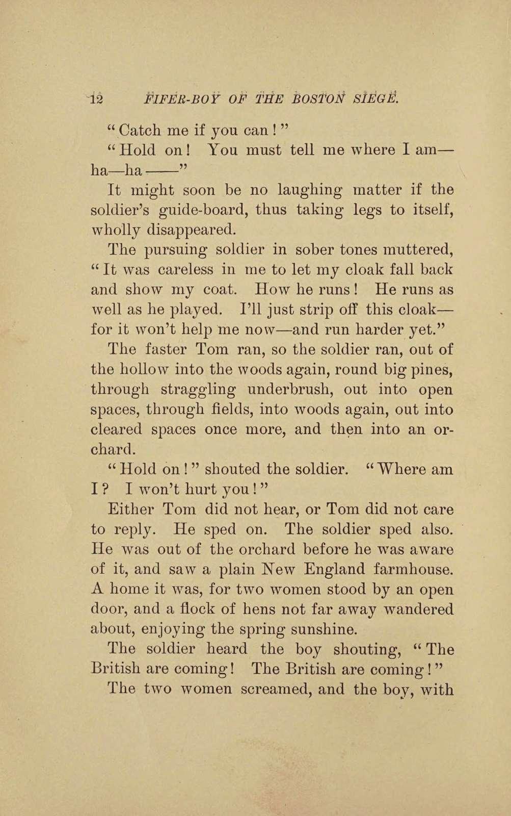 Fifer-boy of the Boston siege,