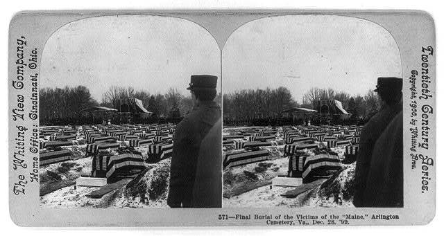 Final burial of the victims of the MAINE, Arlington Cemetery, Va., Dec. 28, 1899