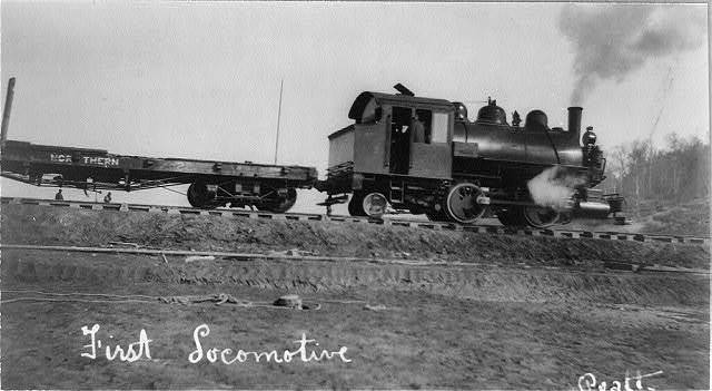 First locomotive of U.S. Railroad