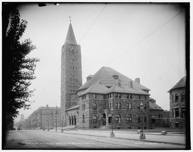 First M[ethodist] E[piscopal] Church, Woman's College, Baltimore, Md.