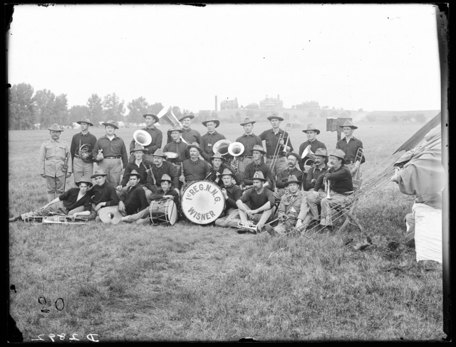 First regiment band of the Nebraska National Guard, Kearney, Nebraska.