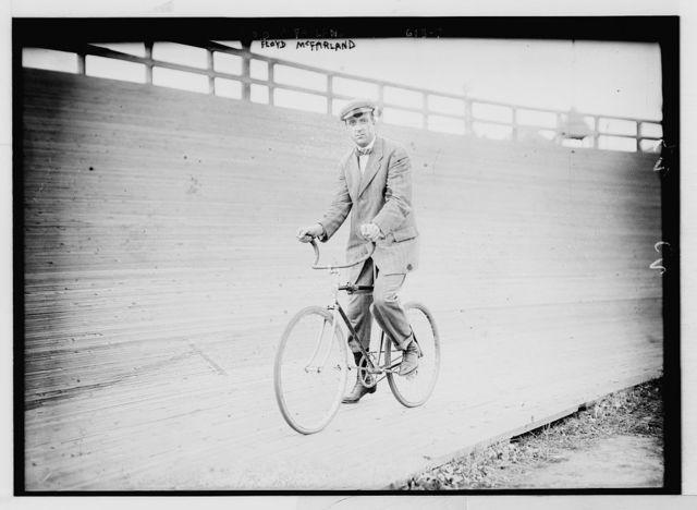 Floyd McFarland, on bicycle