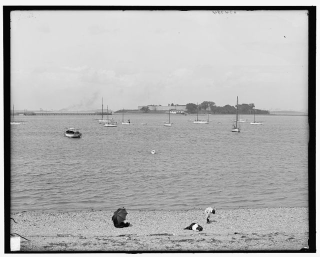 [Fort Independence from head house, City Point, Boston, Mass.]