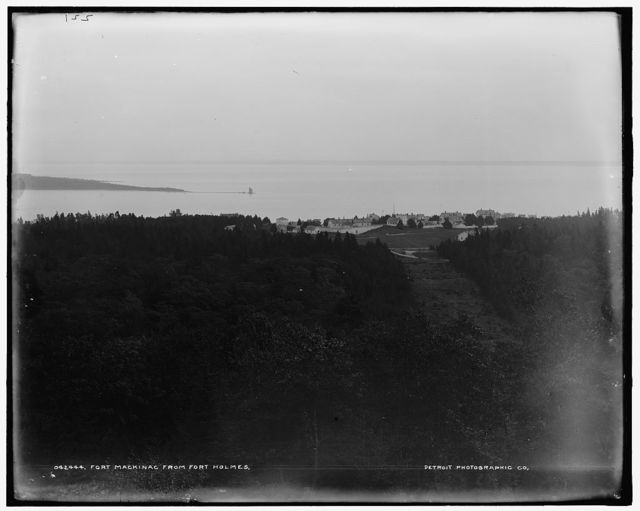 Fort Mackinac from Fort Holmes