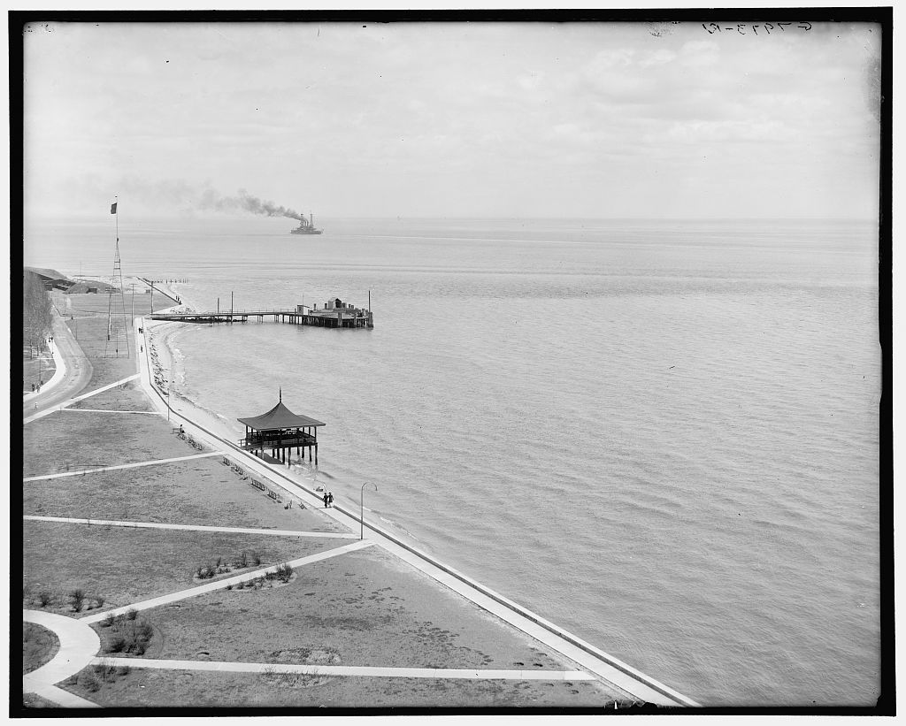 Fort Monroe and entrance to Hampton Roads, Va.