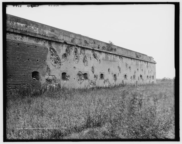 Fort Pulaski battle scars, Savannah, Ga.