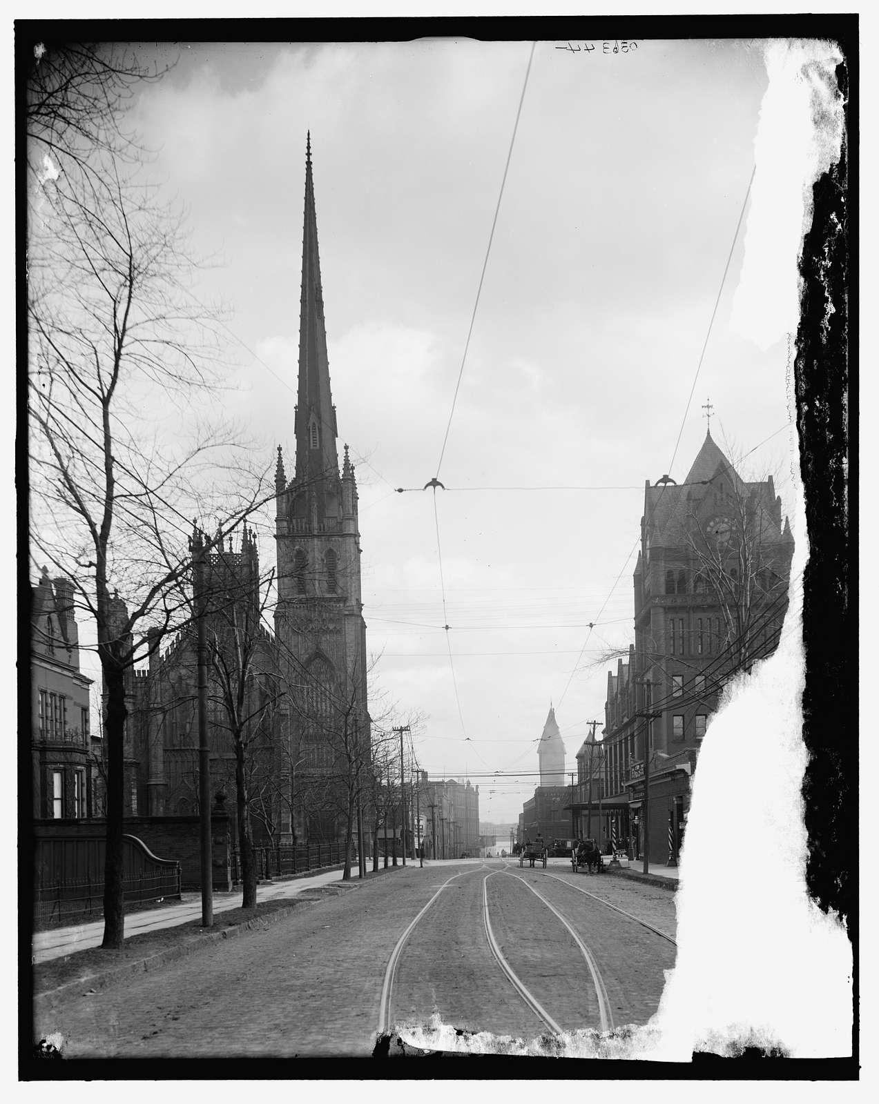 Fort Street Presbyterian Church and Union Railroad Station, Detroit, Mich.