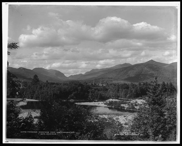 Franconia Mountains from North Woodstock, White Mountains