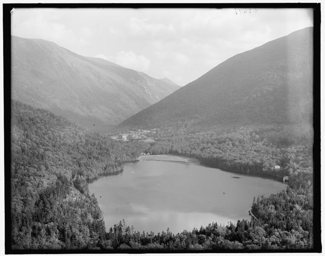 [Franconia Notch and Echo Lake from artist's bluff, White Mts., N.H.]