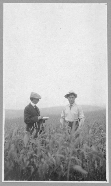 Frank G. Carpenter at an experimental farm