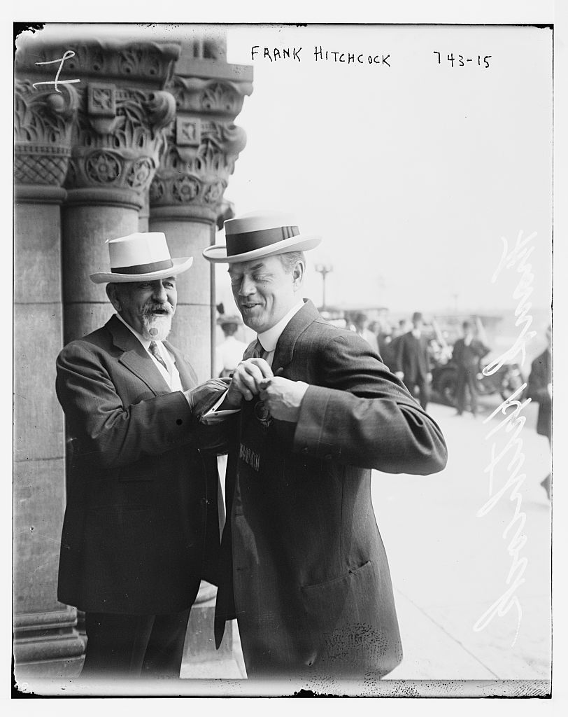 Frank Hitchcock, with unidentified gentleman