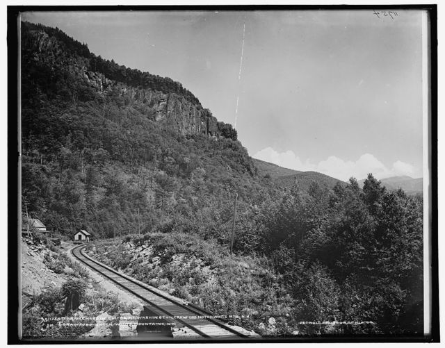 Frankenstein Cliff & Mt. Washington, Crawford Notch, White Mts., N.H.