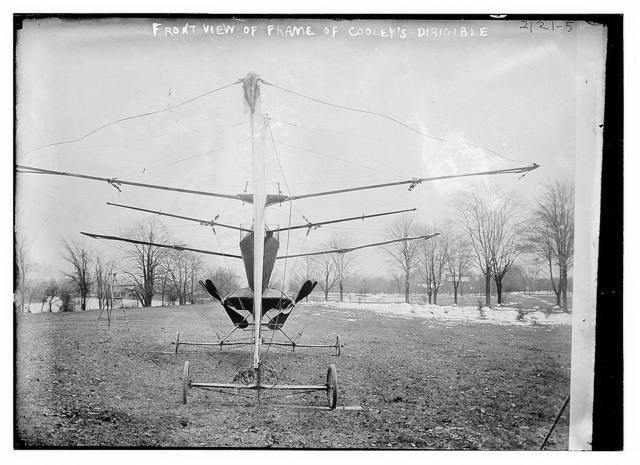 Front view of frame of Cooley dirigible