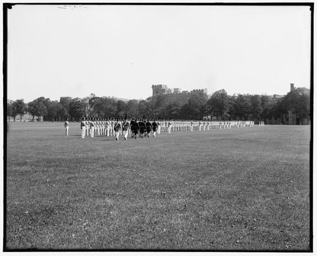 [Full dress parade inspection, West Point, N.Y.]