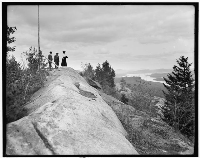 [Fulton Chain, looking east from Bald Mountain, Adirondack Mts., N.Y.]