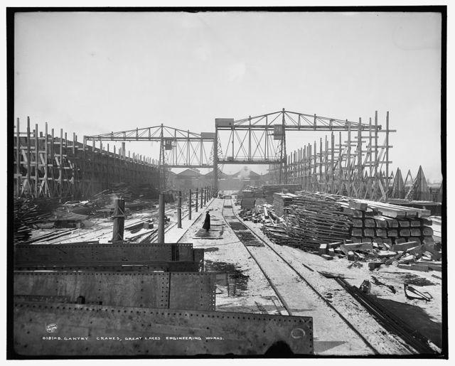 Gantry cranes, Great Lakes Engineering Works