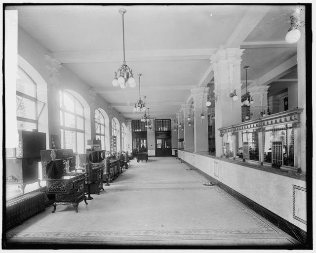 Gas office, first floor, looking back