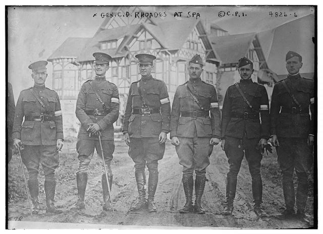 Gen. C.D. Rhoades at Spa