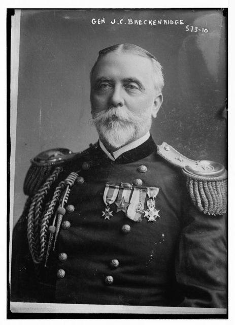 Gen. J.C. Breckinridge, portrait bust, in uniform