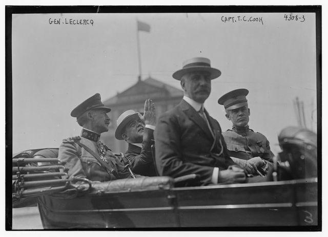 Gen. Leclercq, Capt. T.C. Cook