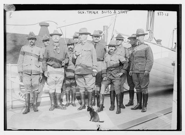 "Gen. Tasker Bliss and staff aboard U.S. Army transport ""Kilpatrick"""
