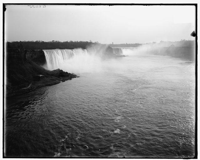 [General view from International (Upper Steel Arch) Bridge, Niagara Falls, N.Y.]