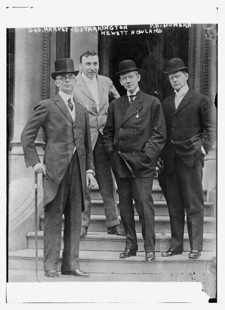 Geo. Harvey, Booth Tarkington, Hewett Howland, F.A. Duneka