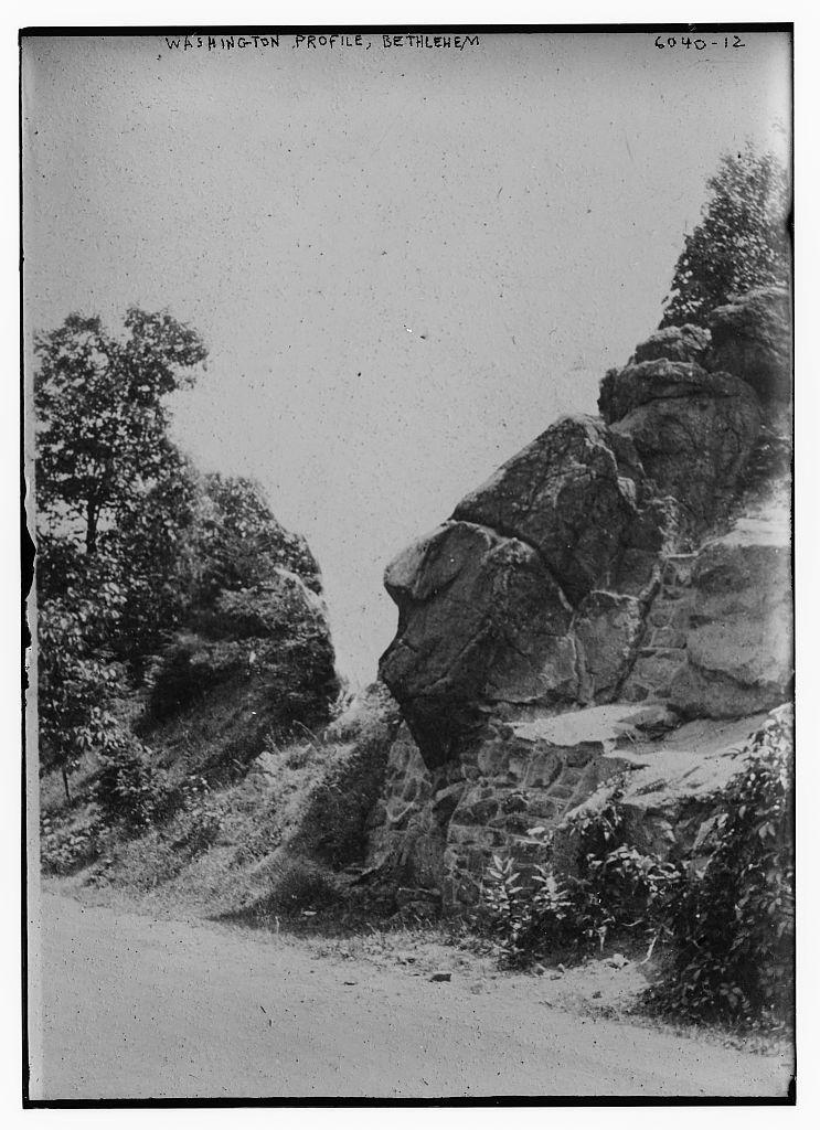 Geo. Wash. profile, Bethlehem, natural rock formation