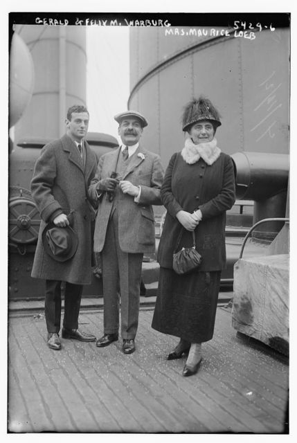 Gerald & Felix M. Warburg with Mrs. Maurice Loeb