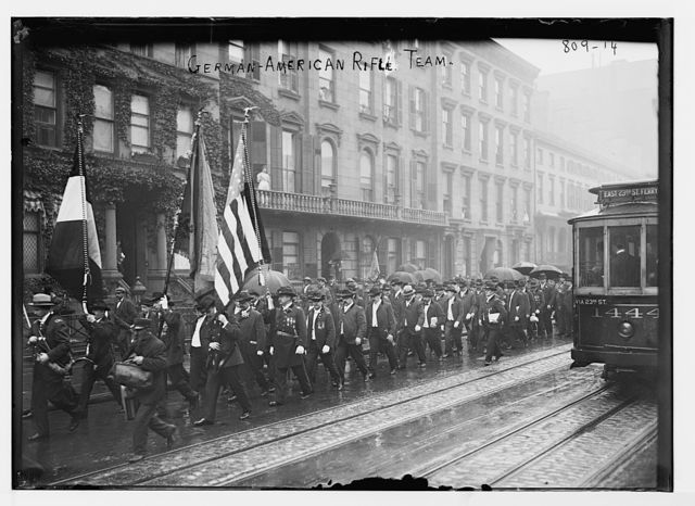 German-American Rifle Team parade, New York
