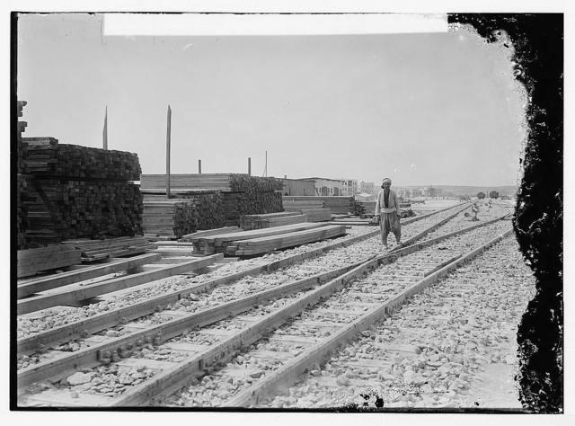 German Baghdad Railway, 190_. Building temporary bridge over the Euphrates