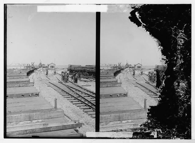 German Baghdad Railway, 190_. Landing place at Tripoli built especially for Germans