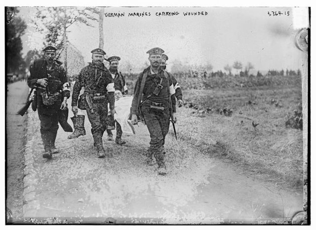 German Marines Carrying Wounded