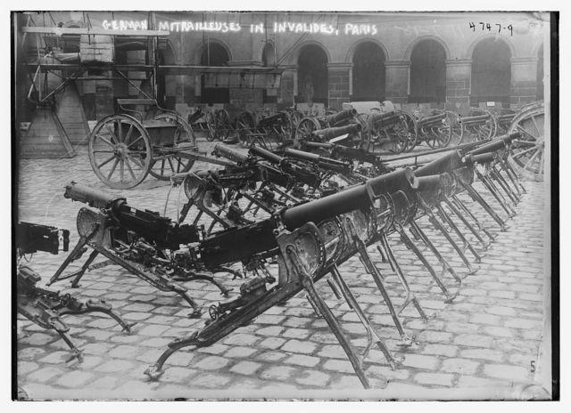 German Mitrailleuses in Invalides, Paris