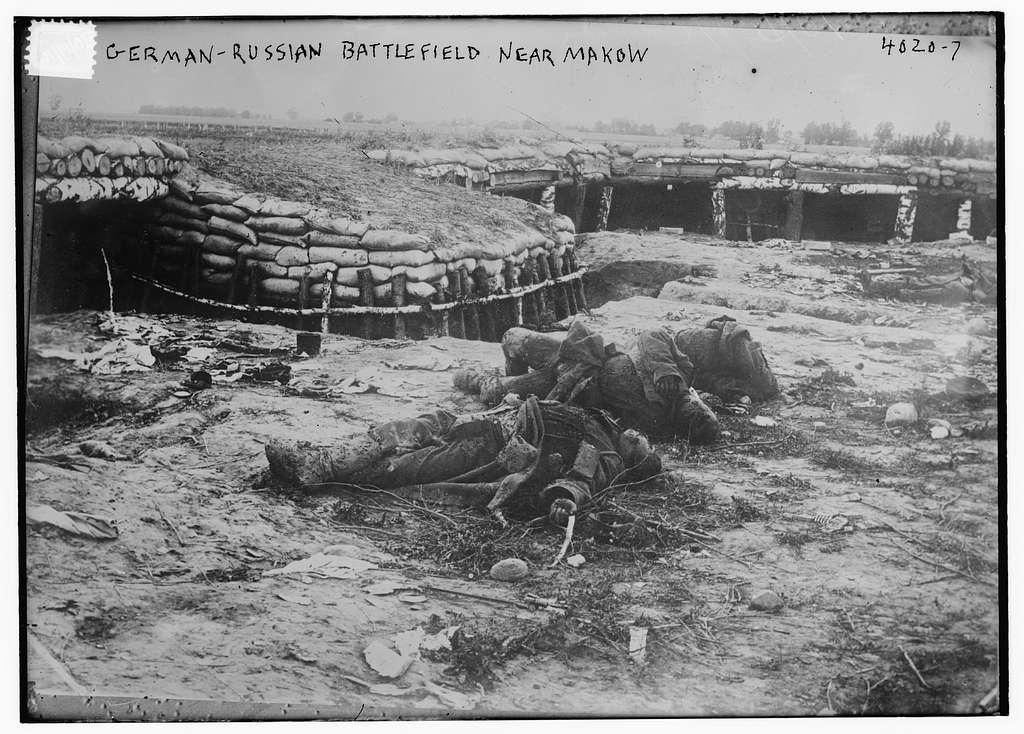 German - Russian Battlefield Near Makow
