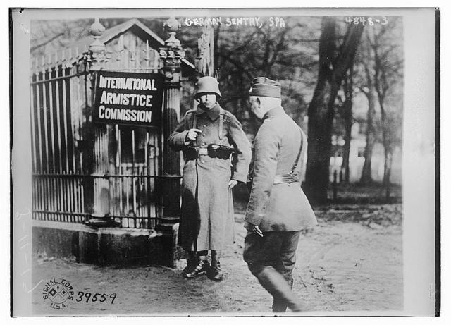 German sentry, Spa