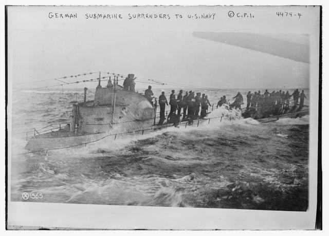 German submarine surrenders to U.S. Navy