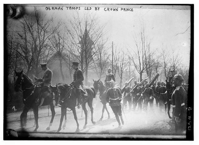 German troops led by Crown Prince