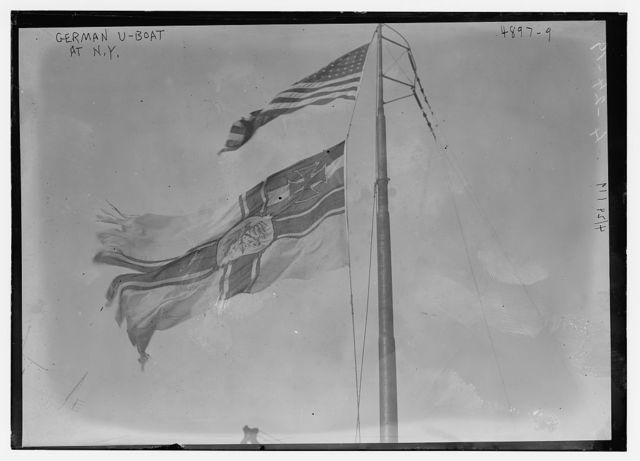 German U-boat at N.Y.