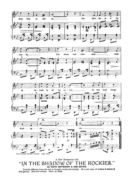 Give us just another Lincoln: arranged for band, orchestra, mandolin, banjo, and guitar words and music by Paul Dresser, composer of The blue and the gray, The green above the red, On the banks of the Wabash, and many other successes.