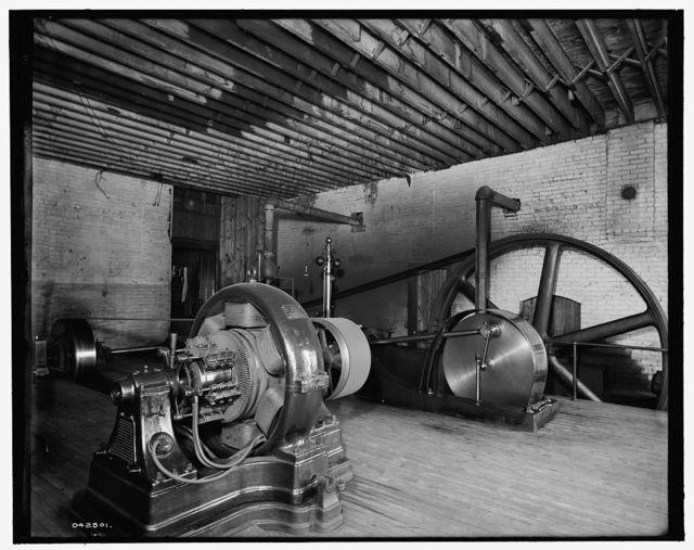 [Glazier Stove Company, engine room, Chelsea, Mich.]