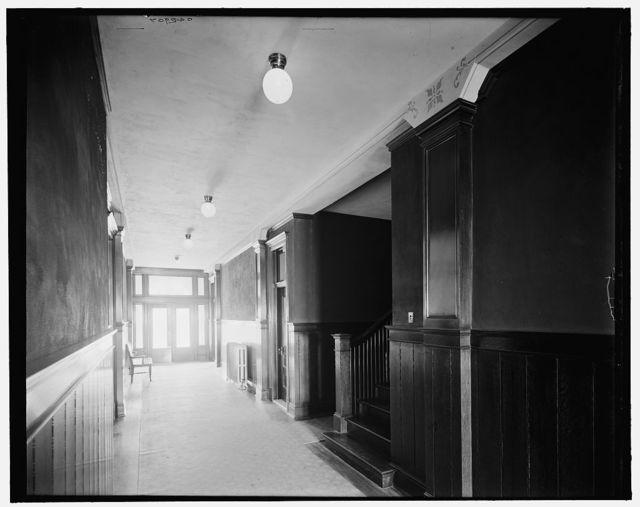 [Glazier Stove Company, hall in office bldg., Chelsea, Mich.]