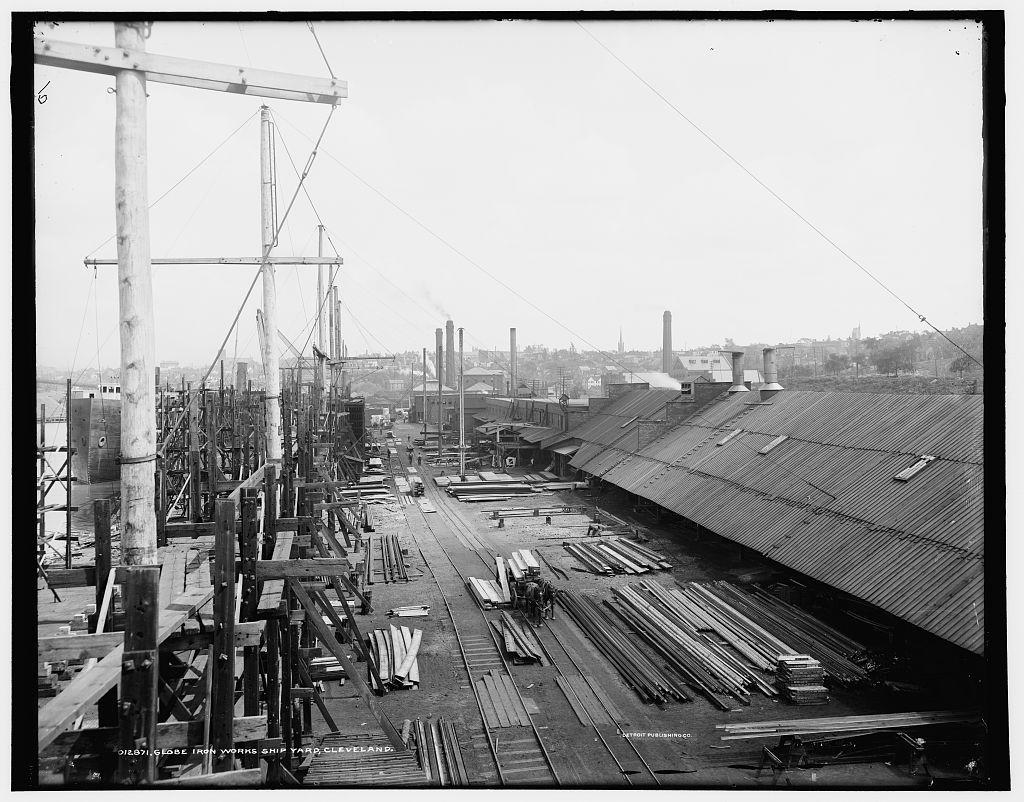 Globe Iron Works ship yard, Cleveland