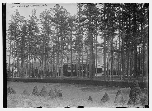 Gould Home, seen through trees, Lakewood, N.J.
