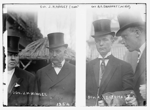 Gov. J.G. Hawley (Idaho) and Gov. A.O. Eberhart (Minn.)