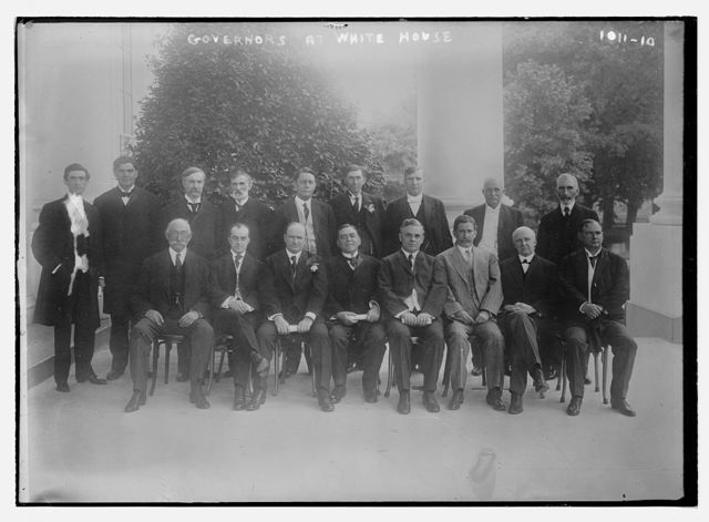 Governors seated together at White House, Washington