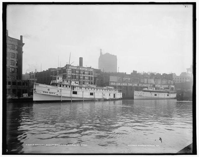 Graham and Morton Line docks, Chicago