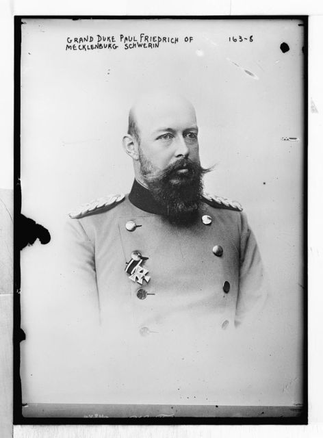 Grand Duke Paul Friedrich of Mecklenburg, Schwerin, portrait bust, in uniform