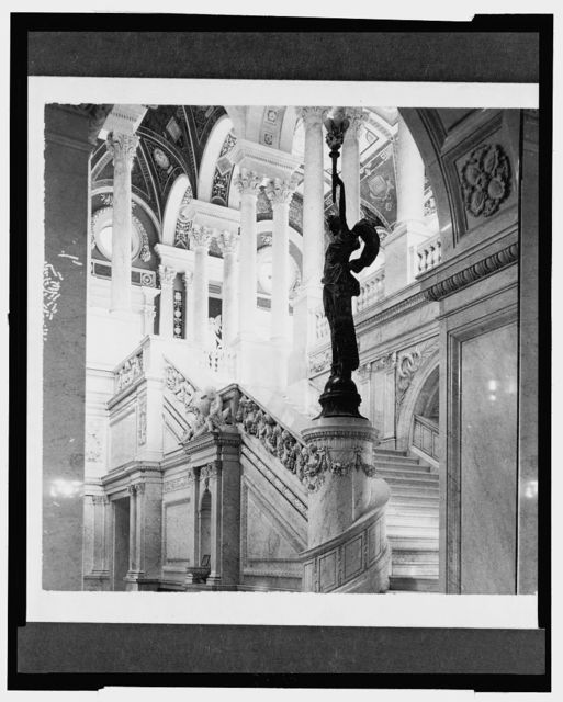 Grand Staircase from Vestibule, Congressional Library, Washington, D.C.